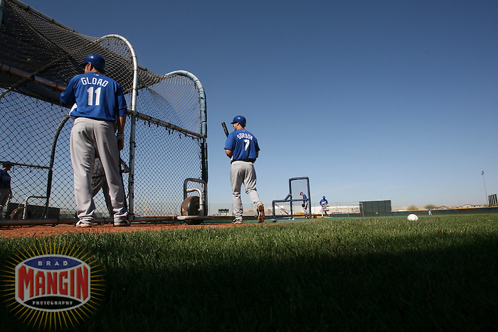 Alex Gordon during the Kansas City Royals work out during spring training in Surprise, AZ on February 27, 2007. Photo by Brad Mangin / Sports Illustrated