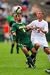 13 September 2009: University of Vermont Catamount forward/midfielder Juan Peralta, a Junior from Queens, NY, in action against the University of Massachusetts Minutemen during the second round of the 2009 Morgan Stanley Smith Barney Soccer Classic held at Centennial Field in Burlington, Vermont. The Catamounts and Minutemen battled to a 1-1 double-overtime tie. Mandatory Photo Credit: Ed Wolfstein Photo