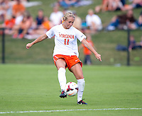 Brittany Ratcliffe (11) of Virginia takes a shot during the game at Klockner Stadium in Charlottesville, VA.  Virginia defeated Maryland, 1-0.