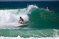 Donavon Frankenreiter (USA) with Occy looking on surfing at DURANBAH BEACH, Australia ,   Photo: joliphotos.com