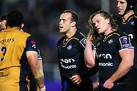 Michael van Vuuren of Bath Rugby looks on at a scrum. European Rugby Challenge Cup match, between Bath Rugby and Bristol Rugby on October 20, 2016 at the Recreation Ground in Bath, England. Photo by: Patrick Khachfe / Onside Images