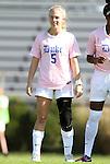 23 October 2011: Duke's Kaitlyn Kerr. The Duke University Blue Devils defeated the University of Maryland Terrapins 3-1 at Koskinen Stadium in Durham, North Carolina in an NCAA Division I Women's Soccer game.