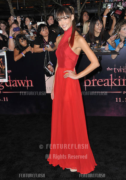 """Sharni Vinson at the world premiere of """"The Twilight Saga: Breaking Dawn - Part 1"""" at the Nokia Theatre, L.A. Live in downtown Los Angeles..November 14, 2011  Los Angeles, CA.Picture: Paul Smith / Featureflash"""