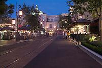 Grove, Farmers Market, retail, night, twilight, night, dusk, Los Angeles, California,