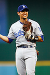 30 May 2007:  Los Angeles Dodgers first baseman Nomar Garciaparra (5) in action against the Washington Nationals.  The Dodgers defeated the Nationals 5-0 at RFK Stadium in Washington, D.C.  ****For Editorial Use Only****