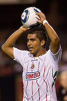 Defender for CD Chivas de Guadalajara Miguel Ponce is ready for a throw in. CD Chivas USA beat CD Chivas de Guadalajara in PK's during the ChivasClasico at Petco Park stadium in San Diego, California on Tuesday September 14, 2010.