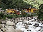 The Urubamba River in Aguas Calientes, Peru