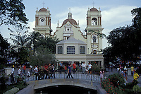 The cathedral and Parque Central in San Pedro Sula, Honduras