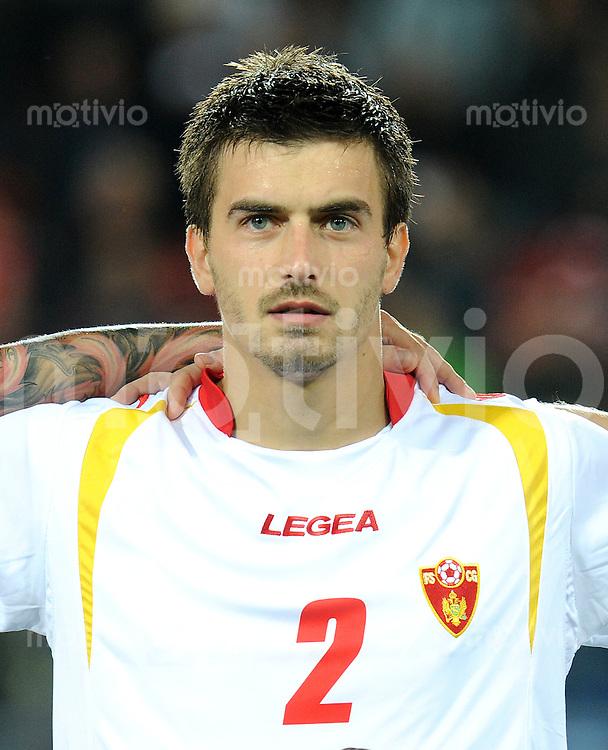 FUSSBALL INTERNATIONAL  EM 2012-Qualifikation  Gruppe G   11.10.2011 Schweiz - Montenegro Drasko BOZOVIC (Montenegro)