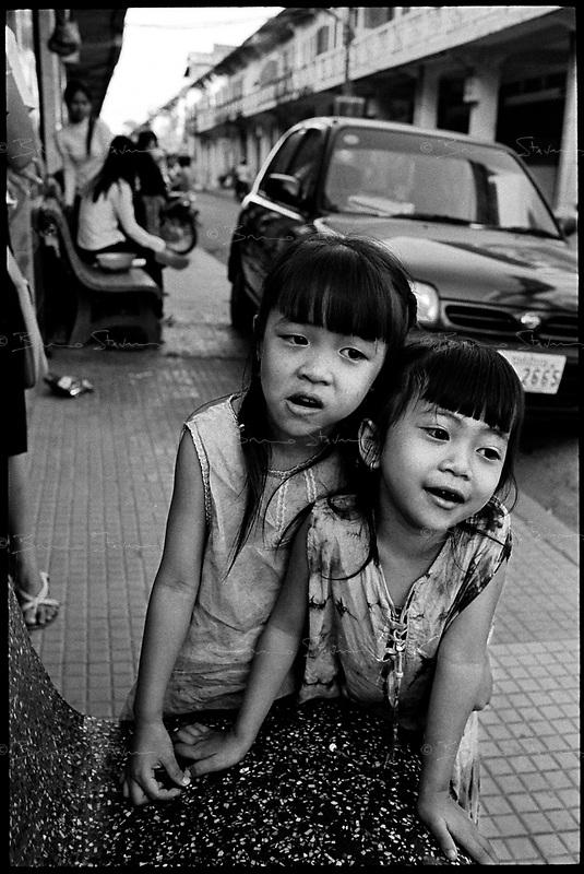 Battambang, Cambodia, December 2006..Street scene.