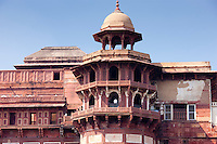 Agra Fort, 17th Century residence of Great Mughals and Mughal fort in Agra, Northern India
