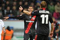FUSSBALL   CHAMPIONS LEAGUE   SAISON 2011/2012  Bayer 04 Leverkusen - FC Valencia           19.10.2011 Michael BALLACK (hinten) und Stefan KIESSLING (Bayer 04 Leverkusen)