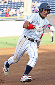 Hiroshi Taki rounds third base during Game 3 of the annual Collegiate Friendship Series between Team USA and Japan on Tuesday, July 5, 2011. Photo by Al Drago.