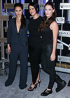 HOLLYWOOD, LOS ANGELES, CA, USA - NOVEMBER 10: Christina Chong, Kiki Wolfkill, Sarah Armstrong arrive at the HaloFest - Halo: The Master Chief Collection Launch Event held at Avalon on November 10, 2014 in Hollywood, Los Angeles, California, United States. (Photo by Xavier Collin/Celebrity Monitor)