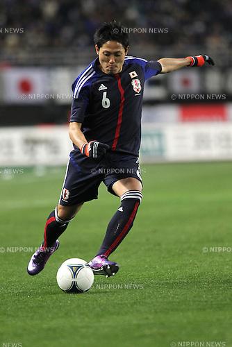 Ryota Moriwaki (JPN),.FEBRUARY 24, 2012 - Football / Soccer :.Kirin Challenge Cup 2012 match between Japan 3-1 Iceland at Nagai Stadium in Osaka, Japan. (Photo by Kenzaburo Matsuoka/AFLO)