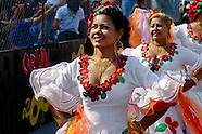 Colombian women dance Cumbia during the Carnival in Barranquilla, Colombia, 27 February 2006. The Carnival of Barranquilla is a unique festivity which takes place every year during February or March on the Caribbean coast of Colombia. A colourful mixture of the ancient African tribal dances and the Spanish music influence - cumbia, porro, mapale, puya, congo among others - hit for five days nearly all central streets of Barranquilla. Those traditions kept for centuries by Black African slaves have had the great impact on Colombian culture and Colombian society. In November 2003 the Carnival of Barranquilla was proclaimed as the Masterpiece of the Oral and Intangible Heritage of Humanity by UNESCO.