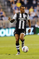 Mehdi Abeld Newcastle United in action,.. Sporting Kansas City and Newcastle United played to a 0-0 tie in an international friendly at LIVESTRONG Sporting Park, Kansas City, Kansas.