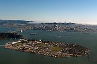 aerial photograph of Treasure Island, San Francisco