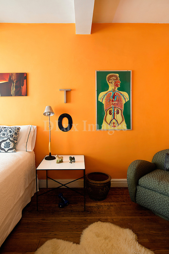 Artworks in bedroom