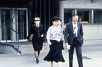 Pix: Copyright Anglia Press Agency/Archived via SWpix.com. The Bamber Killings. August 1985. Murders of Neville and June Bamber, daughter Sheila Caffell and her twin boys. Jeremy Bamber convicted of killings serving life...copyright photograph>>Anglia Press Agency>>07811 267 706>>..Julie Mugford, after giving evidence at Chelmsford Crown Court. no date..ref 0005 neg ? 8/9 ?...