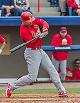 7 March 2015: St. Louis Cardinals infielder Pete Kozma in Spring Training action against the Washington Nationals at Space Coast Stadium in Viera, Florida. The Cardinals fell to the Nationals 6-5 in Grapefruit League play. Mandatory Credit: Ed Wolfstein Photo *** RAW (NEF) Image File Available ***