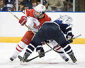 Andy Miele (Miami - 17) - The University of New Hampshire Wildcats defeated the Miami University RedHawks 3-1 (EN) in their NCAA Northeast Regional Semi-Final on Saturday, March 26, 2011, at Verizon Wireless Arena in Manchester, New Hampshire.