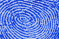 Fingerabdruck, Fingerabdrücke mit einem Stempelkissen genommen, sammeln, sichten, vergleichen