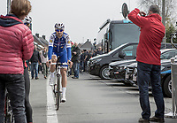 Tom Boonen (BEL/Quick Step Floors) on his way to the start<br /> <br /> E3 Harelbeke 2017