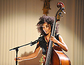 "Washington, D.C. - May 12, 2009 -- Esperanza Spalding, 24, a 2005 recipient of the Boston Jazz Society scholarship for outstanding musicianship, performs for United States President Barack Obama and first lady Michelle Obama during ""An Evening of Poetry, Music and the Spoken Word in the East Room of the White House in Washington, DC on Tuesday, May 12, 2009..Credit: Ron Sachs / Pool via CNP"