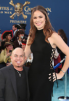 """HOLLYWOOD, CA - May 18: Martin Klebba, Michelle Dilgard, At Premiere Of Disney's """"Pirates Of The Caribbean: Dead Men Tell No Tales"""" At Dolby Theatre In California on May 18, 2017. Credit: FS/MediaPunch"""