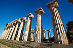 Greek Dorik columns at the  ruins of Temple F at Selinunte, Sicily  photography, pictures, photos, images &amp; fotos.