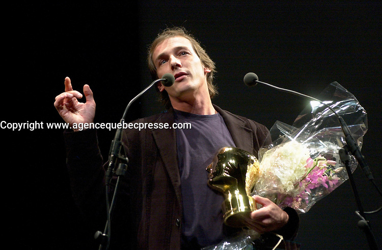 September 7,  2003, Montreal, Quebec, Canada<br /> <br />  Montreal director Louis<br />  Belanger receive the Special Grand Prize of the Jury and also the OECUMNICAL AWARD for his movie, based on his father's life and values.<br /> <br /> <br /> <br /> The Festival runs from August 27th to september 7th, 2003<br /> <br /> <br /> Mandatory Credit: Photo by Pierre Roussel- Images Distribution. (&copy;) Copyright 2003 by Pierre Roussel <br /> <br /> All Photos are on www.photoreflect.com, filed by date and events. For private and media sales