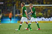 FUSSBALL   1. BUNDESLIGA   SAISON 2012/2013   1. SPIELTAG Borussia Dortmund - SV Werder Bremen                  24.08.2012      Clemens Fritz (li) und Kevin De Bruyne (re, beide SV Werder Bremen) sind enttaeuscht