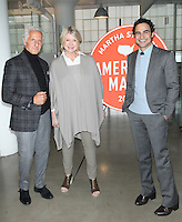NEW YORK, NY - OCTOBER 22: Joseph Abboud, Martha Stewart and Zac Posen attend Martha Stewart's American Made Summit on October 22, 2016 in New York City. Credit: Diego Corredor/Media Punch