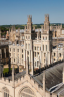 All Souls College, North Quadrangle, Oxford Built by 1716-34 by Architect: Nicholas Hawksmoor