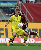 FUSSBALL   1. BUNDESLIGA  SAISON 2012/2013   2. Spieltag 1. FC Nuernberg - Borussia Dortmund       01.09.2012 Lukasz Piszczek (li, Borussia Dortmund) gegen Alexander Esswein (1 FC Nuernberg)