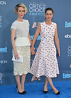 Sarah Paulson &amp; Amanda Peet at the 22nd Annual Critics' Choice Awards at Barker Hangar, Santa Monica Airport. <br /> December 11, 2016<br /> Picture: Paul Smith/Featureflash/SilverHub 0208 004 5359/ 07711 972644 Editors@silverhubmedia.com