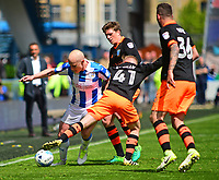 Huddersfield Town's Aaron Mooy vies for possession with Sheffield Wednesday's Barry Bannan and Adam Reach<br /> <br /> Photographer Andrew Vaughan/CameraSport<br /> <br /> The EFL Sky Bet Championship Play-Off Semi Final First Leg - Huddersfield Town v Sheffield Wednesday - Saturday 13th May 2017 - The John Smith's Stadium - Huddersfield<br /> <br /> World Copyright &copy; 2017 CameraSport. All rights reserved. 43 Linden Ave. Countesthorpe. Leicester. England. LE8 5PG - Tel: +44 (0) 116 277 4147 - admin@camerasport.com - www.camerasport.com