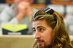 World Champion Peter Sagan (SVK) Bora-Hansgrohe at the top riders press conference on the eve of the race of the two seas, 52nd Tirreno-Adriatico by NamedSport running from the 8th to 14th March, Italy. 7th March 2017.<br /> Picture: La Presse/Fabio Ferrari | Cyclefile<br /> <br /> <br /> All photos usage must carry mandatory copyright credit (&copy; Cyclefile | La Presse)
