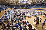 Duke faculty and staff enjoy a pre-game meal in Cameron Indoor Stadium during the Employee Kickoff Celebration and season opener against North Carolina Central University. Duke won the game 49-6 at the newly renovated Brooks Field at Wallace Wade Stadium.