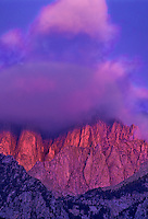 711700067v alpenglow lights up the clouds topping mount whitney in the eastern sierras near the alabama hills in california