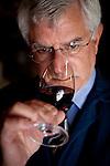 Darrell Corti tastes wine at Corti Bros. in Sacramento, Calif., March 3, 2012.