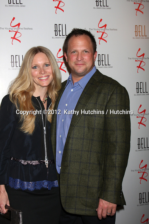 LOS ANGELES - MAR 16:  Lauralee Bell, Scott Martin arrives at the Young & Restless 39th Anniversary Party hosted by the Bell Family at the Palihouse on March 16, 2012 in West Hollywood, CA