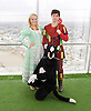 Dick Whittington <br /> publicity pictures <br /> taken from The View From The Shard, London Bridge Quarter, London, Great Britain <br /> press photocall <br /> 17th November 2016 <br /> <br /> <br /> <br /> <br /> Sam Hallion as Dick Whittington <br /> <br /> Alice Fitzwarren as Grace Chapman <br /> <br /> <br /> <br /> Victoria Williams as The Cat <br /> <br /> Photograph by Elliott Franks <br /> Image licensed to Elliott Franks Photography Services