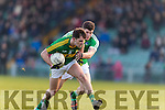Jack Savage Kerry in action against Iain Corbett Limerick in the Final of the McGrath Cup at the Gaelic Grounds on Sunday.