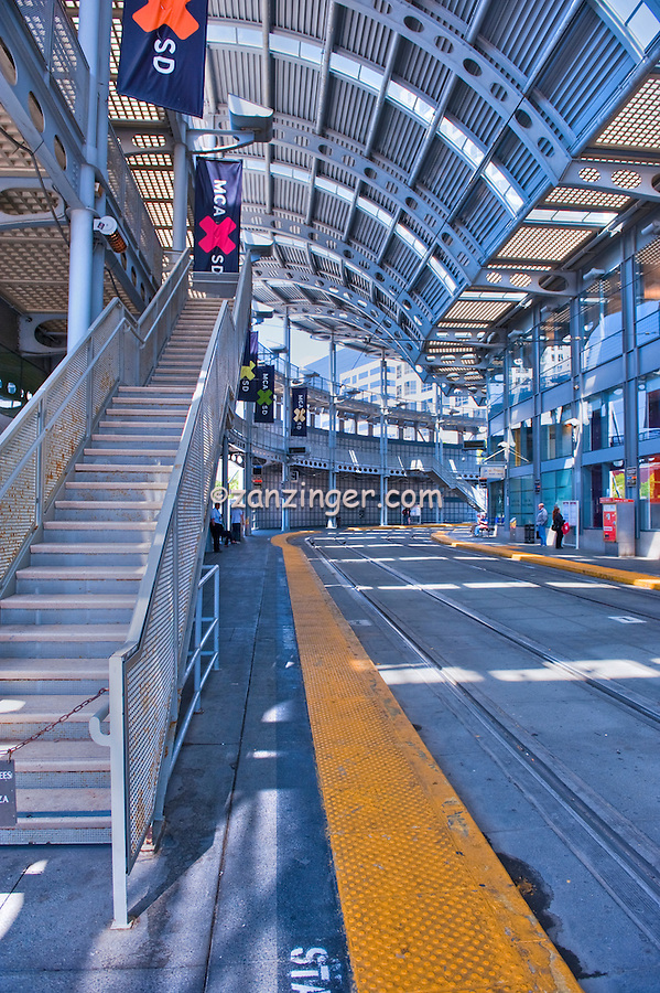 Public, Light, Trolley, San Diego, Metropolitan, Transit, System, (MTS)  San Diego, Ca High dynamic range imaging (HDRI or HDR)