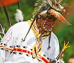A Native American man dances at the 8th Annual Red Wing PowWow in Virginia Beach, Virginia.