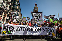 """31.08.2013 - """"No Attack On Syria"""" - London Demo Against Military Intervention in Syria"""