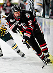 26 November 2010: Northeastern University Huskies' forward Rob Dongara, a Freshman from Scituate, MA, in action against the University of Vermont Catamounts at Gutterson Fieldhouse in Burlington, Vermont. The Huskies came back from a 2-0 deficit to earn a 2-2 tie against the Catamounts. Mandatory Credit: Ed Wolfstein Photo
