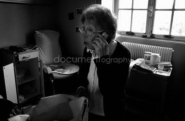"""""""I would like to see you Colette,? says my grandmother over the phone to one of her friends -Colette. Colette had been unable to visit my grandmother for the last seven months. With my grandmother now leaving the hospital, my mother hopes that more of her friends will be able to visit her...© Magali Corouge/Documentography.2004-2006.France."""